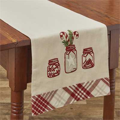 Mason and Peppermint Table Runner