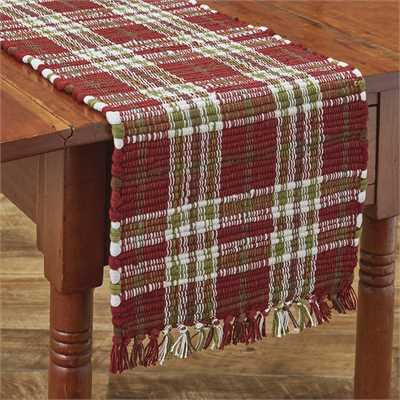 Northwoods Chindi Table Runner