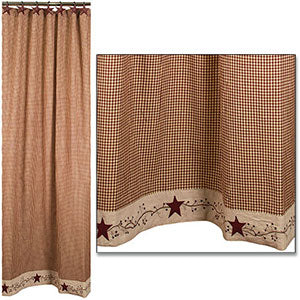 Stars N Berries Shower Curtain