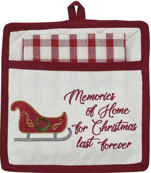 Memories Of Home Pocket Potholder Set