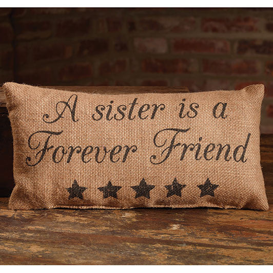 Small Burlap Sister Pillow