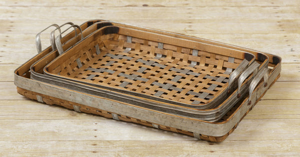 Baskets - Bamboo And Metal