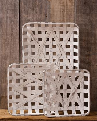 Tobacco Baskets - Antiqued Square