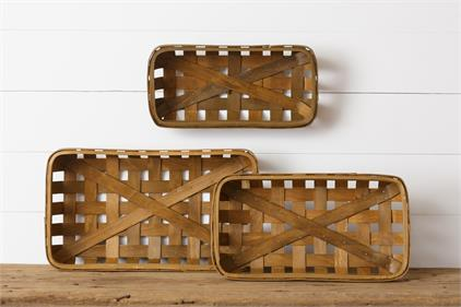Tobacco Baskets - Brown