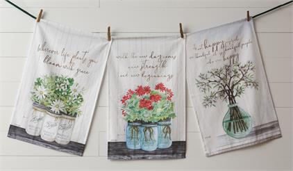 Tea Towels - Life, Happy, Beginnings