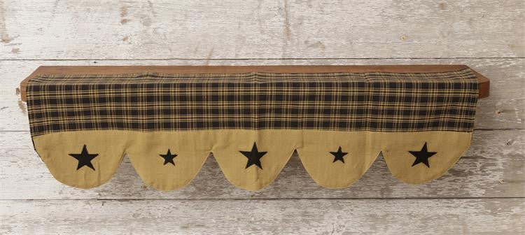 Shelf Liner - Primitive Star Black