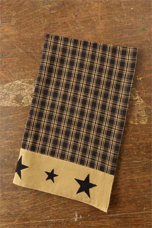 Tea Towel - Primitive Star Black