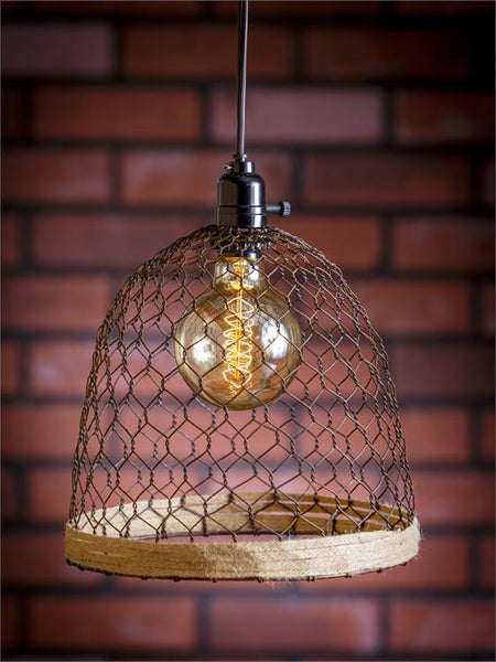 Pendant Lamp - Chicken Wire Dome