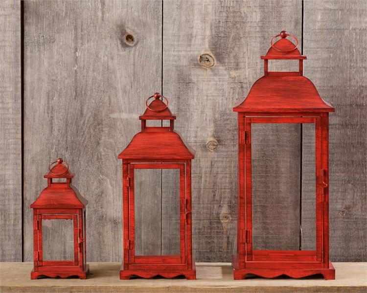Lanterns - Red -3 Sizes