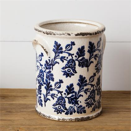 Pottery - Blue Floral, Large