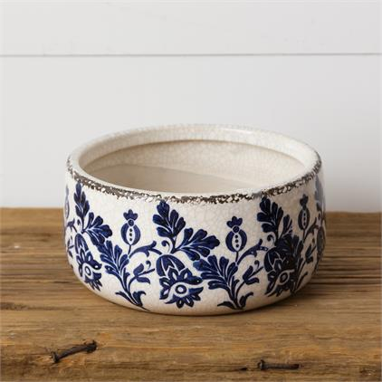 Pottery - Blue Floral