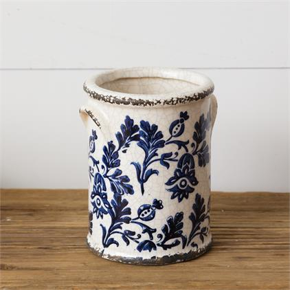 Pottery - Blue Floral, Small
