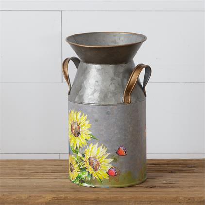 Sunflowers & Butterflies - Milk Can