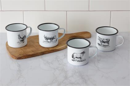 Enamelware – Farm Animal Mugs
