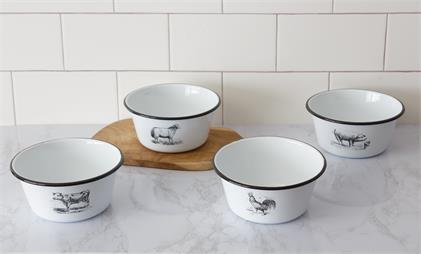Enamelware – Farm Animal Bowls