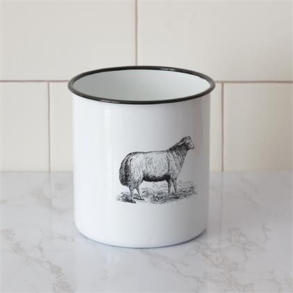 Enamelware – Sheep Canister