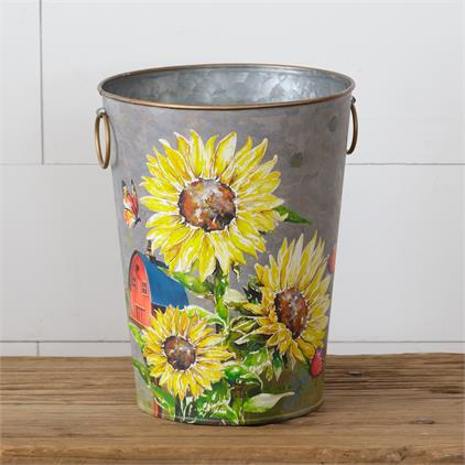 Sunflowers & Butterflies - Bucket