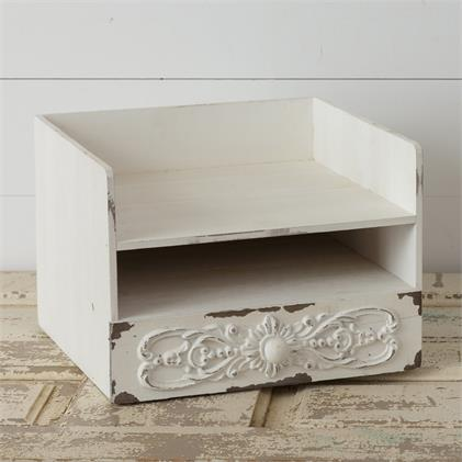 Antiqued Organizer With Drawer