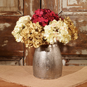 Embossed Tin Floral Pot