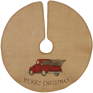 "36"" Red Truck/Christmas Tree Skirt"