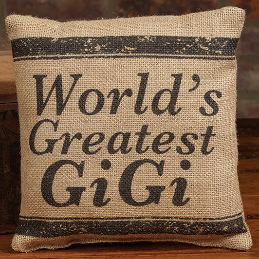 Small Burlap GiGi Pillow