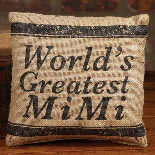 Small Burlap MiMi Pillow