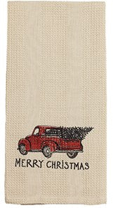 Red Truck Merry Christmas Towel