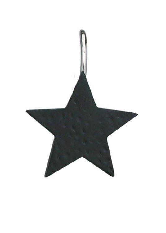 Star Shower Curtain Hooks - Black