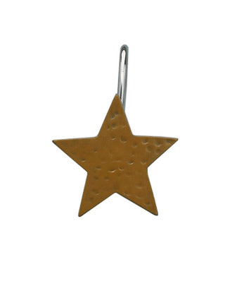 Star Shower Curtain Hook Mustard Set of 12