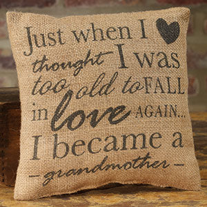 Small Burlap Love/Grandmother Pillow
