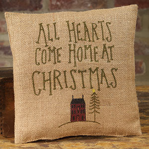 Small Burlap Hearts/Christmas Pillow