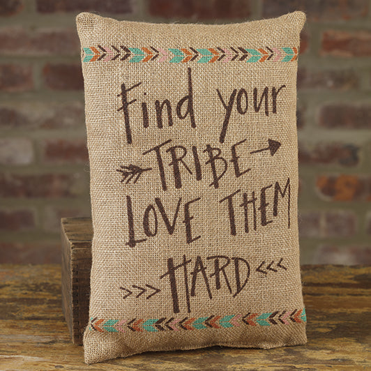 Burlap Tribe Pillow