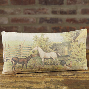 Small Vintage Horse Pillow