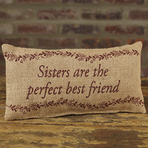 Small Burlap Sisters/Friend Pillow