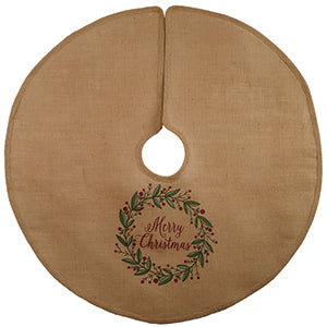"36"" Christmas Wreath Tree Skirt"