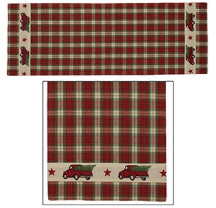Red Truck Table Runner