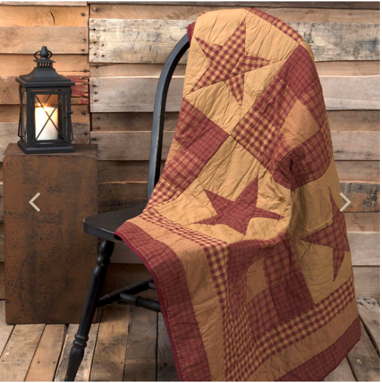 "Ninepatch Star 60"" x 50"" Quilted Throw"