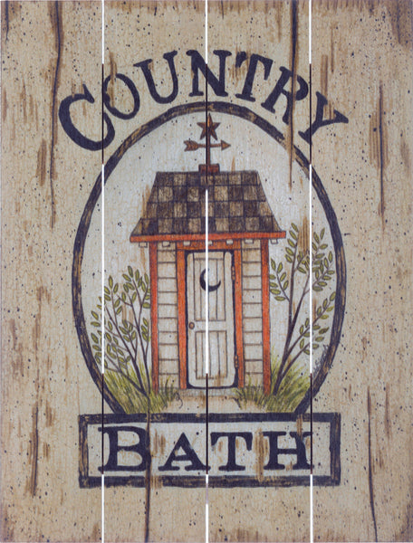 Country Bath Outhouse - Pallet Art