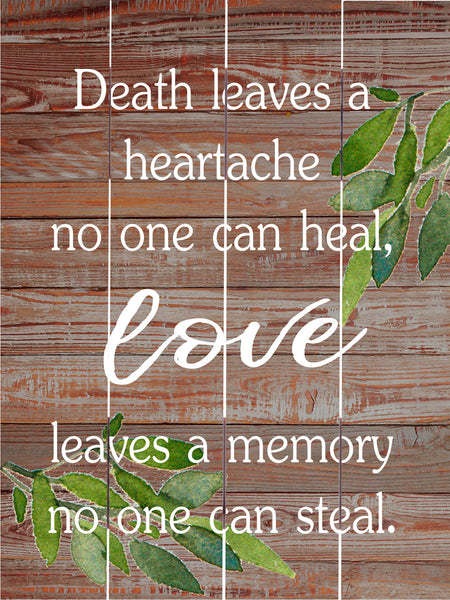 Love Leaves a Memory - Pallet Art