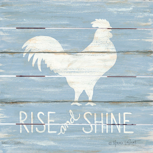Rise & Shine Rooster Pallet Art