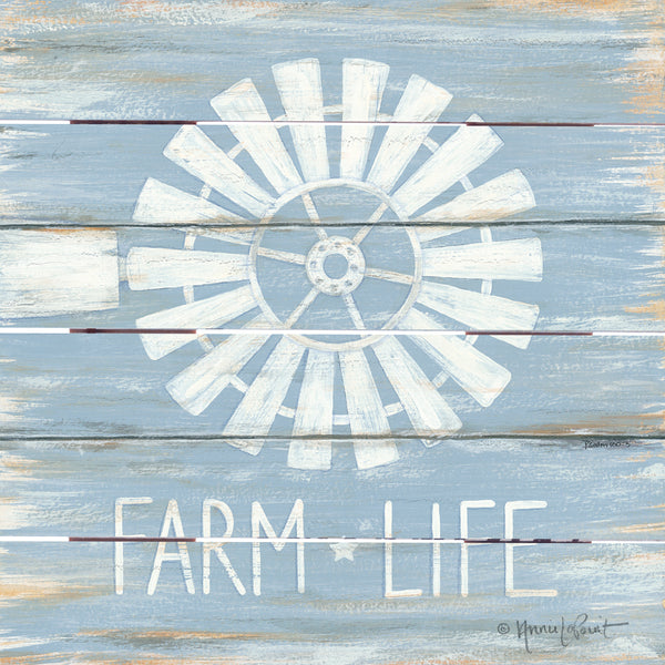 Farm Life Windmill Pallet Art