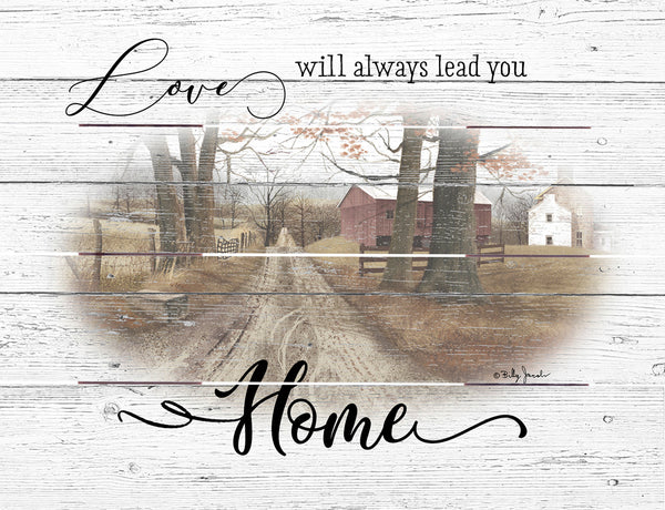 Love Leads Home - Pallet Art