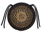 "Black Forest 15"" Braided Chair Pad"
