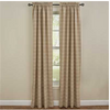 Fieldstone Plaid Lined Panel Pair - Cream