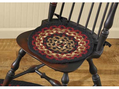 "Folk Art 15"" Braided Chair Pad"