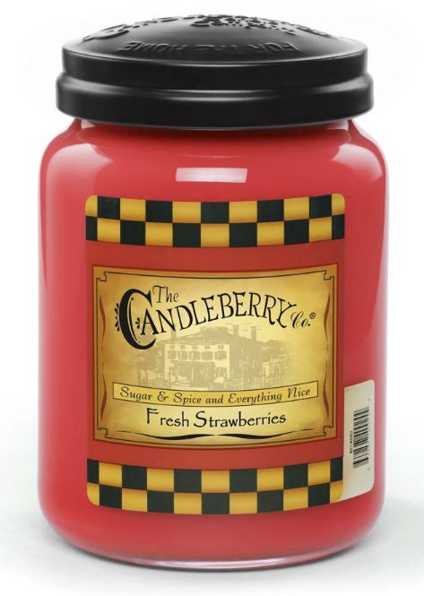 Fresh Strawberries 26 oz. Jar Candle