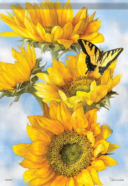 Golden Sunflower Garden Flag