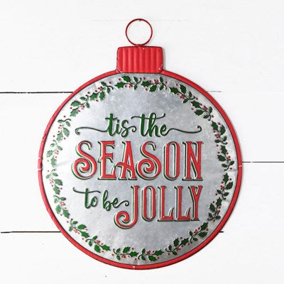 "20"" Season Jolly Round Sign"