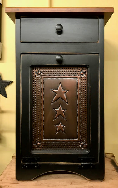 Trash Bin-Small with Copper Star Tin Panel