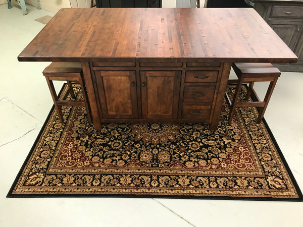 Ancient Mission Island Butcher Block Extension Island & Seating sold as a set for $4339.00